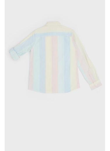 Guess Erkek Çocuk Çizgili Gömlek 20SSGL01H04 Renkli